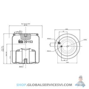 Coussin pneumatique MAN TGL/TGS/TGX - FEBI 39153