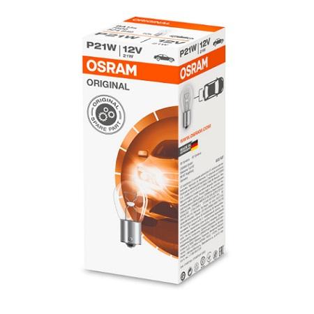 Lampes stop 12V 21W BA15S avec culot métallique OSRAM 7506