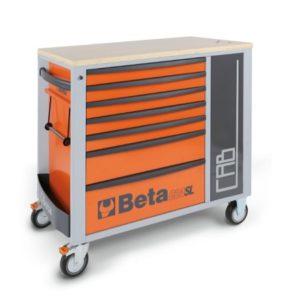 Servante mobile sept tiroirs avec armoire BETA C24SL-CAB/O