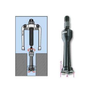 Coffret d'extracteur 1542/1 avec 5 extracteurs a pinces BETA 1545/C5M