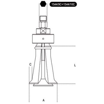 Extracteur a pince a prise intérieure BETA TOOLS 1544