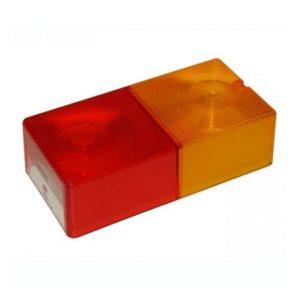 Cabochon Rouge / Ambre avec combinaison de fenêtre 10351.00