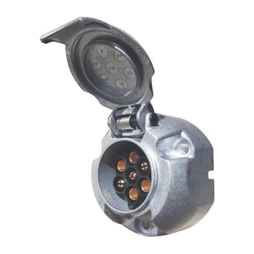 Socle de prise 7P/12V - ISO 1724 - Type N ERICH JAEGER 101285-1
