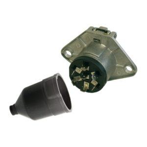 Socle de prise 7P/24V - ISO 1185 - Type N ERICH JAEGER 111128