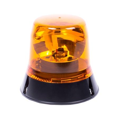 Gyrophare 1 point rotatif Halogene Orange R10 R65 - 12/24V