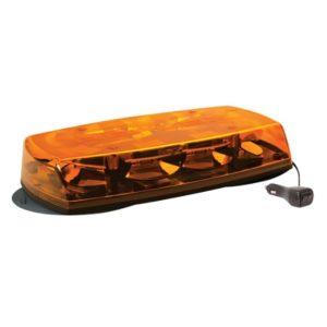 Mini rampe lumineuse 8 Leds orange 2 magnetic - 12/24V