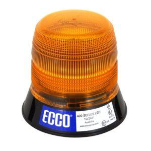 Gyrophare LED serie 400 flash 3 points Orange R65 - 12/24V