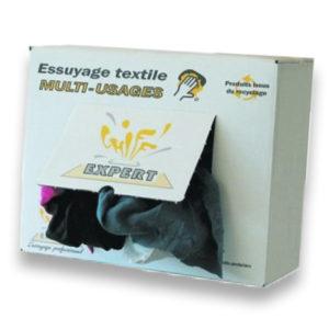 Chiffons en distributeur carton - Vrac pressé E043ECX