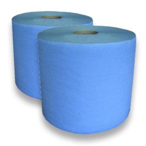 2 Bobines 1000 fts - Ouate recyclée teintée bleue G766PWZ