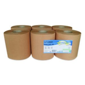 6 rouleaux essuie-mains formats 30 cm ouate recyclé H711POT