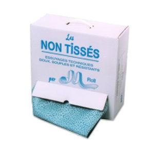 Carton chiffons formats de 38 cm - non tissé bleu K453Z