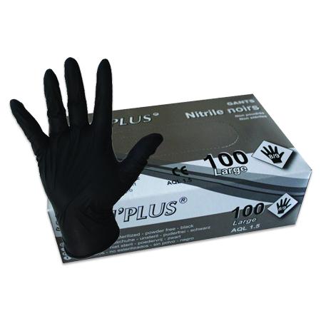 1000 Gants nitrile non poudrés noirs - Grade A-AQL 1.5 Q314Z