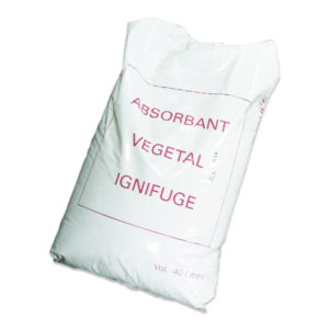 Pyro absorbant végétal - Ignifugé et antidérapant 40L R401A