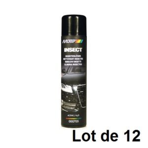AEROSOL NETTOYANT INSECTE 600ML 03908.12 LOT DE 12