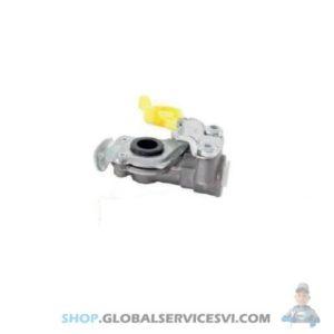 Tête d'accouplement jaune avec filtre - KNORR K154214N00