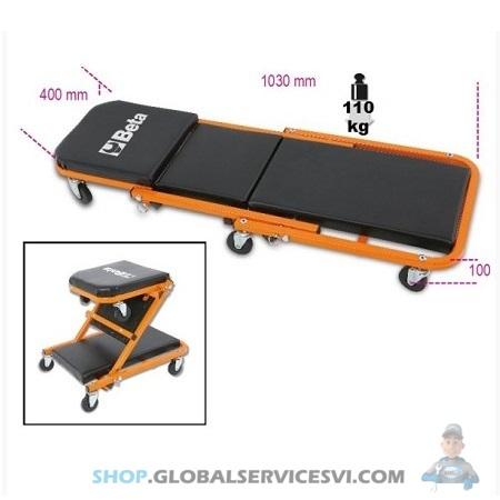 Couchette d'atelier et siège mobile - BETA TOOLS 3002