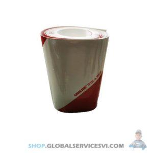 Bande réfléchissante droit Blanc et rouge - Oralite 371049D