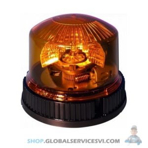 Gyrophare à plat 3 vis 12-24V 23W - SODISE 17051