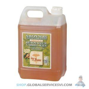 Savon noir liquide à l'huile de lin 5L - SODISE 58382