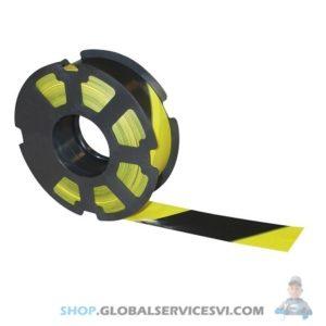 "Ruban ""Rubaplast"" noir et jaune 500 mètres - SODISE 61545"