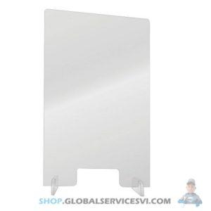 Barrière de protection plexiglass 600 x 1000 mm - SODISE 66000