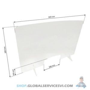 Barrière de protection plexiglass 900 x 600 mm - SODISE 66002