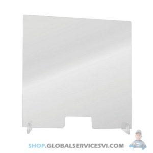 Barrière de protection plexiglass 1000 x 1000 mm - SODISE 66005
