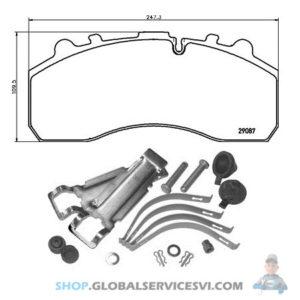 Kit de plaquettes de frein, frein à disque - TEXTAR 2908711