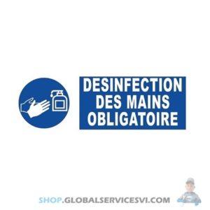"""Panneau adhésif """"désinfection des mains"""" - SODISE 61526"""