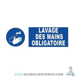 """Panneau adhésif """"lavage des mains"""" - SODISE 61528"""