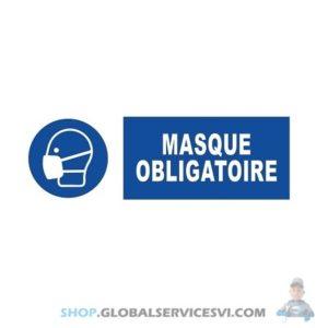 """Panneau adhésif """"port du masque obligatoire"""" - SODISE 61530"""