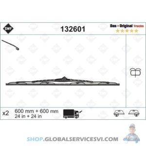 Balai d'essuie-glace SWF 600MM RAMPE D'ARROSAGE - VALEO 132601