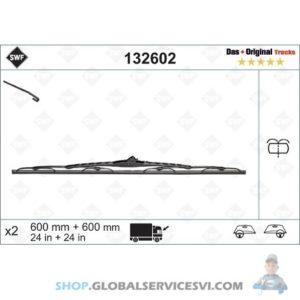 Balai d'essuie-glace SWF 600 mm RAMPE D'ARROSAGE - VALEO 132602