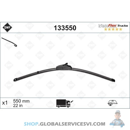 Balai d' essuie-glace SWF VISIOFLEX DAF - VALEO 133550