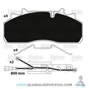 Kit de plaquettes de frein, frein à disque OPTIPACK - VALEO 882227