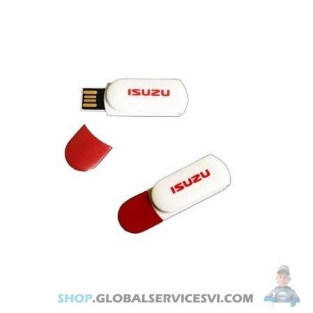 Cle USB 8 GB blanc/rouge ISUZU - ISUZU PARTS JF33005026