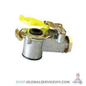 Tête d'accouplement jaune Semi-remorque avec filtre - KNORR K162830N00
