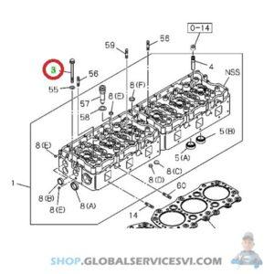 Vis de culasse moteur ISUZU 6RB1 TP01 - ISUZU PARTS 1090700390