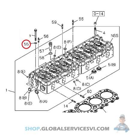 Rondelle vis de culasse moteur ISUZU 6RB1 TP01 - ISUZU PARTS 1095030221